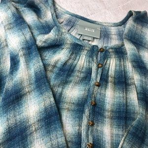 NWOT Anthropologie Maevo 3/4 Sleeve Smock Top
